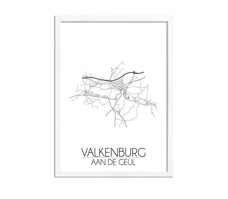 Valkenburg aan de Geul Plattegrond poster