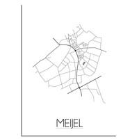Meijel Plattegrond poster
