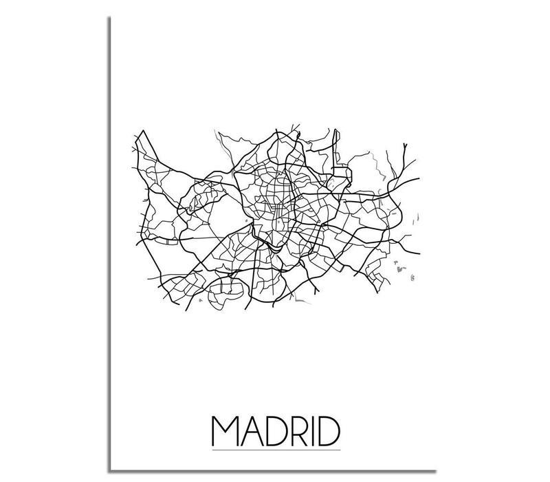 Madrid Plattegrond poster
