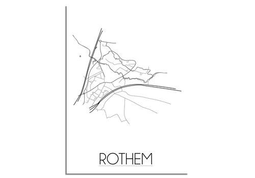 DesignClaud Rothem Plattegrond poster
