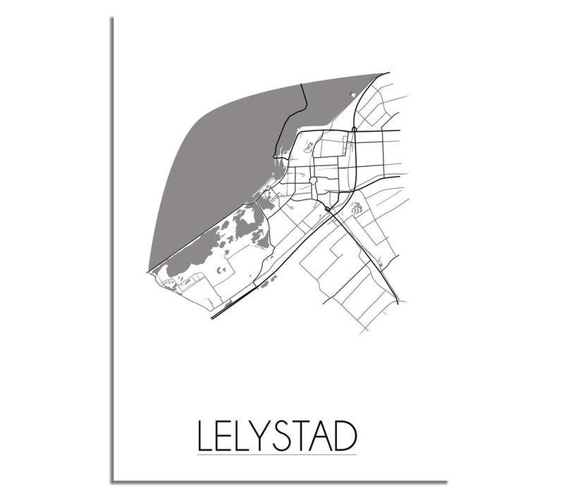 Lelystad Plattegrond poster