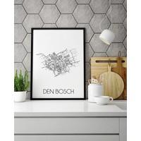 Den Bosch Plattegrond poster