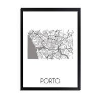 Porto Plattegrond poster