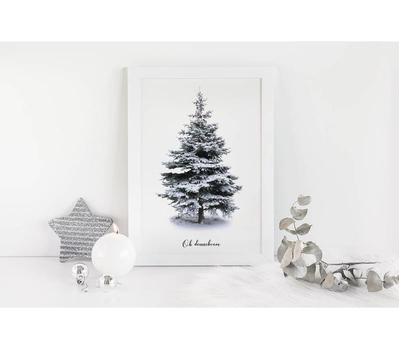Oh Denneboom kerstboom poster - Kerst poster - Kerstboom