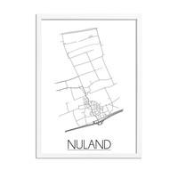 Nuland Plattegrond poster
