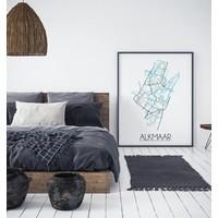 Alkmaar Plattegrond poster