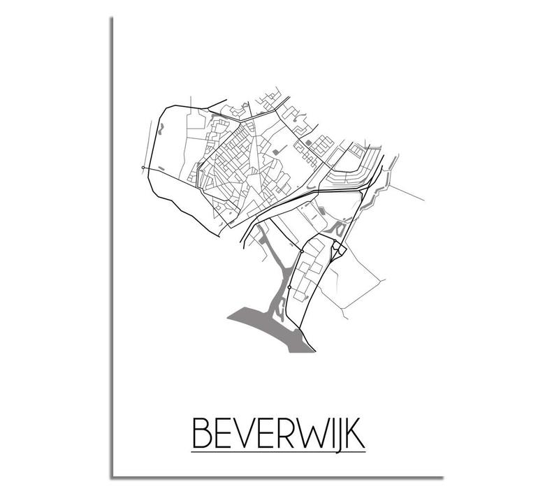 Beverwijk Plattegrond poster
