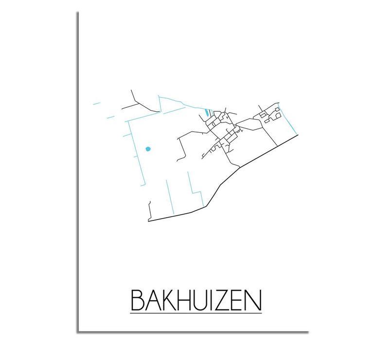Bakhuizen Plattegrond poster