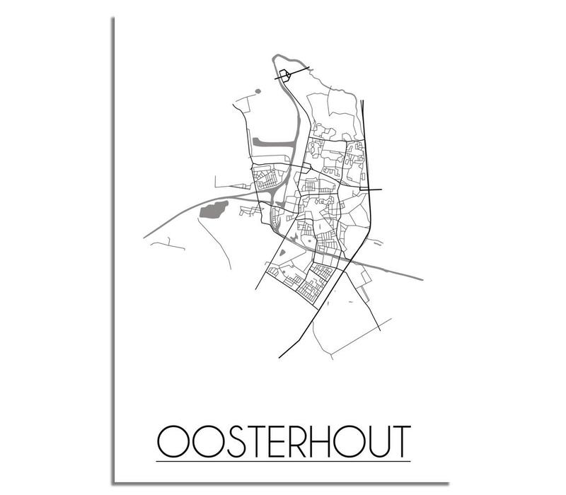 Oosterhout Plattegrond poster