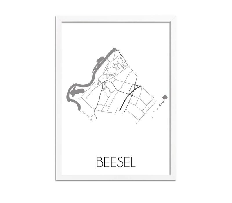 Beesel Plattegrond poster