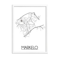 Markelo Plattegrond poster