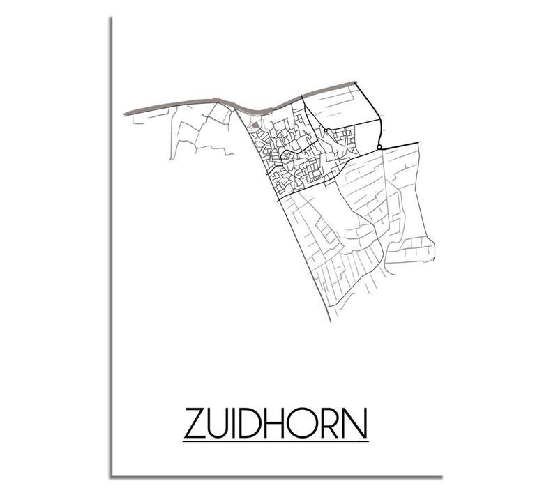 Zuidhorn Plattegrond poster