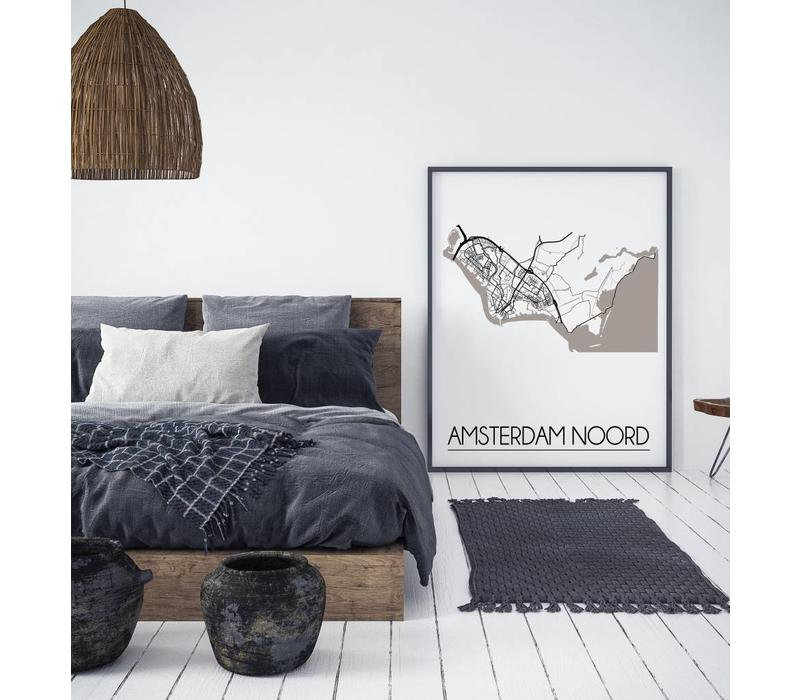 Amsterdam Noord Plattegrond poster