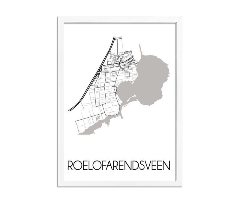 Roelofarendsveen Plattegrond poster