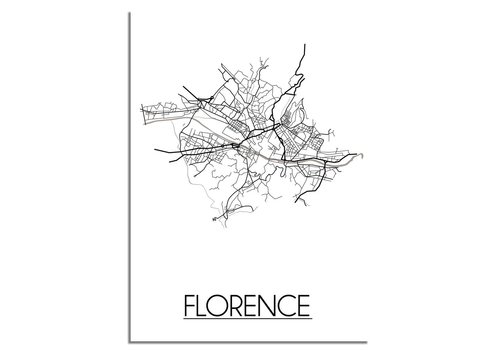DesignClaud Florence Plattegrond poster