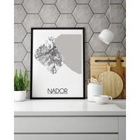 Nador Marokko Plattegrond poster