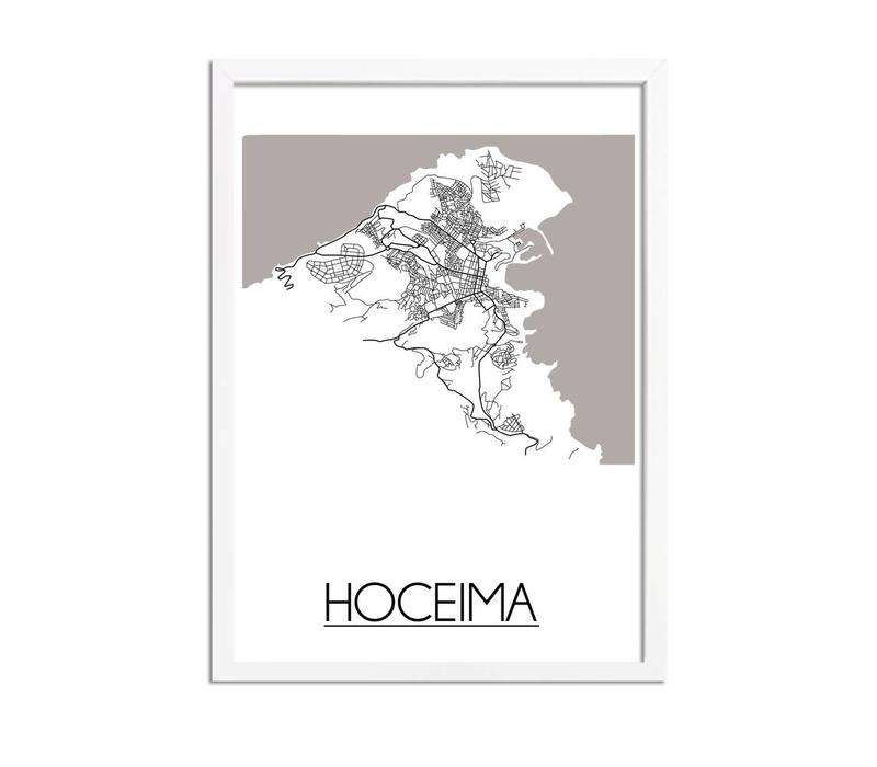 Hoceima Marokko Plattegrond poster