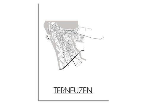 DesignClaud Terneuzen Plattegrond poster