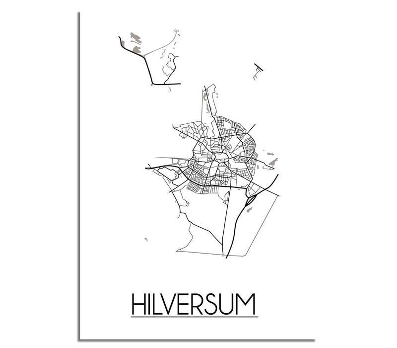Hilversum Plattegrond poster