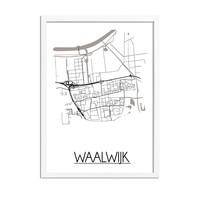 Waalwijk Plattegrond poster