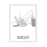 Burgum Plattegrond poster