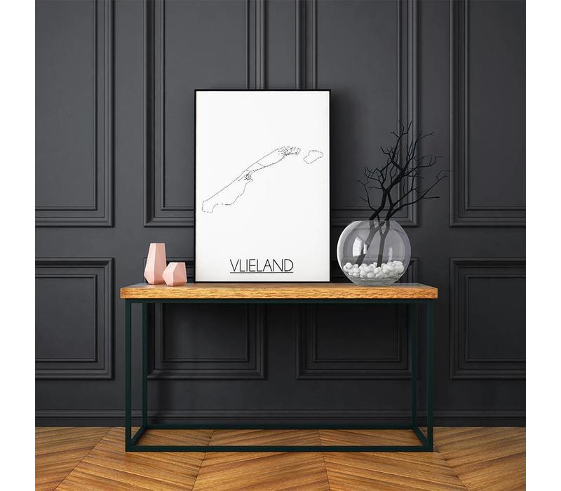 Vlieland Plattegrond poster