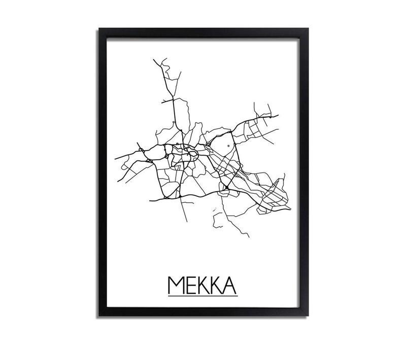 Mekka Plattegrond poster