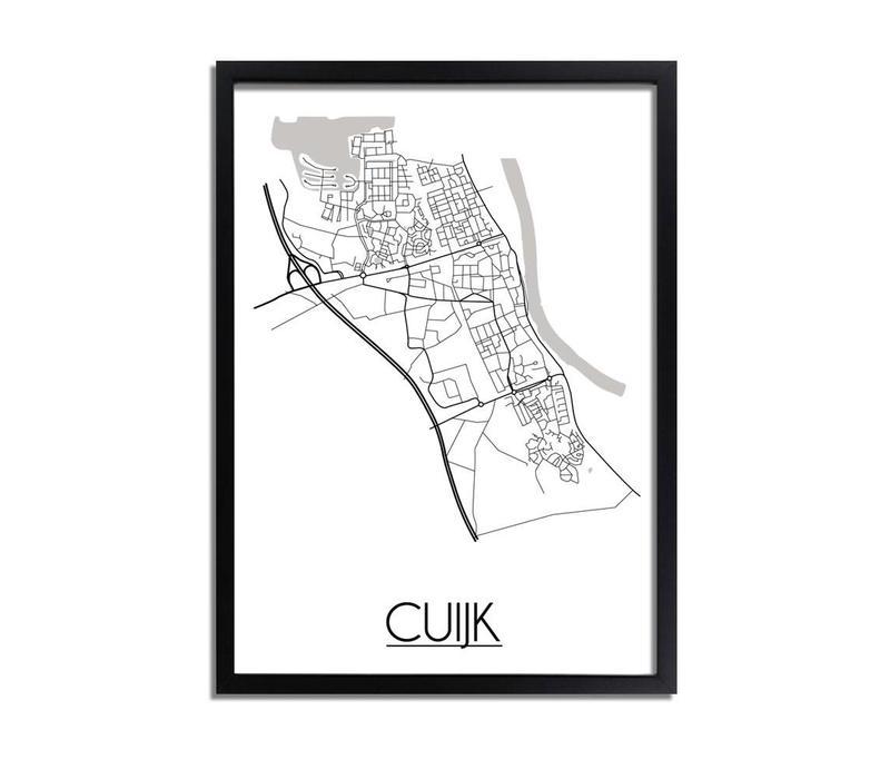Cuijk Plattegrond poster