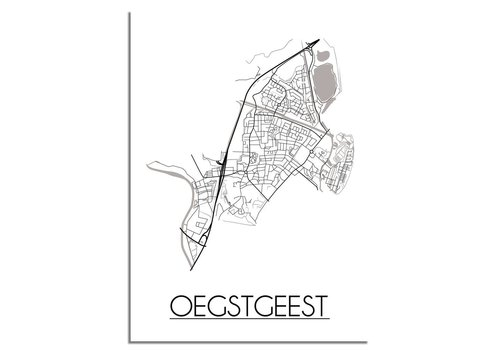 DesignClaud Oegstgeest Plattegrond poster