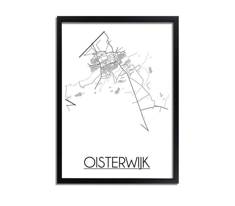 Oisterwijk Plattegrond poster