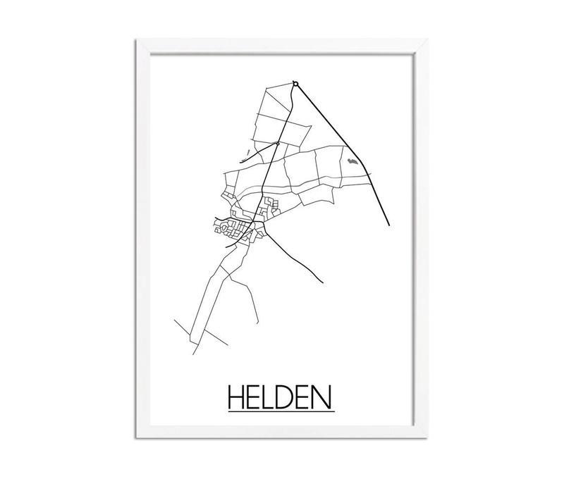 Helden Plattegrond poster