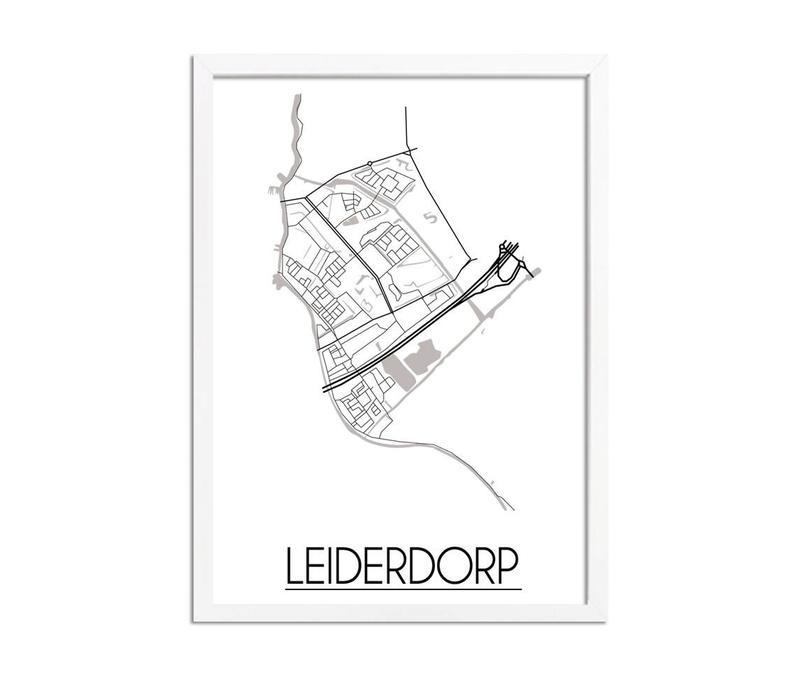 Leiderdorp Plattegrond poster