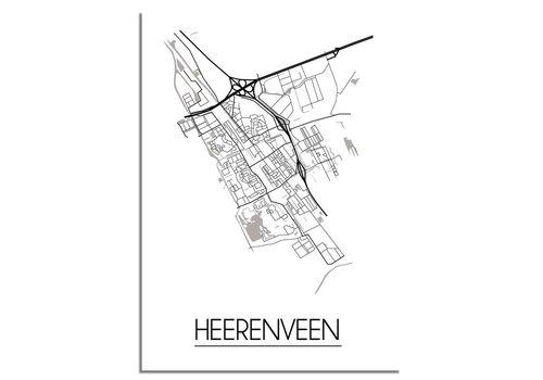 DesignClaud Heerenveen Plattegrond poster