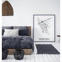 Heerenveen Plattegrond poster