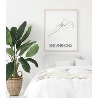 Sint Anthonis Plattegrond poster