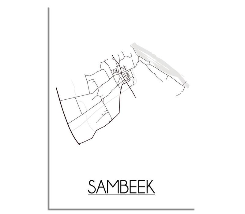 Sambeek Plattegrond poster