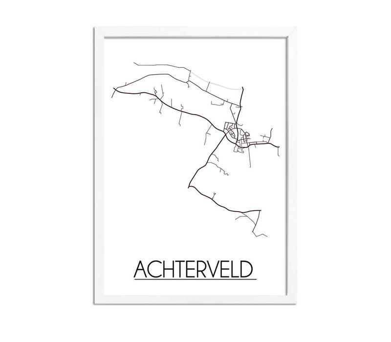 Achterveld Plattegrond poster