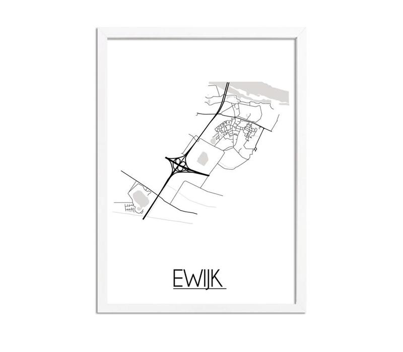 Ewijk Plattegrond poster
