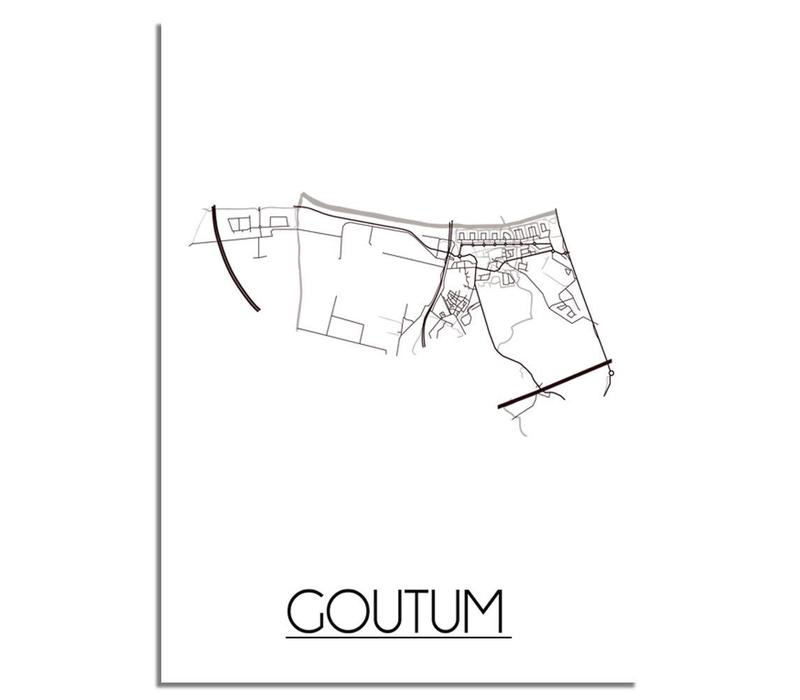 Goutum Plattegrond poster