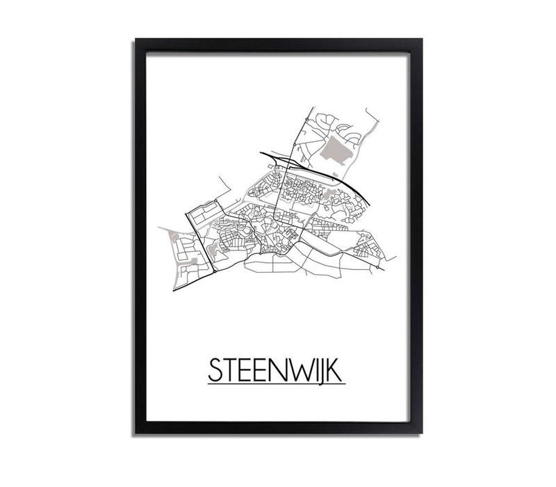 Steenwijk Plattegrond poster