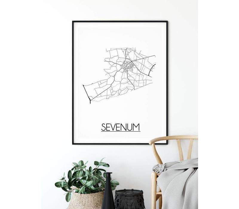 Sevenum Plattegrond poster