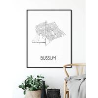 Bussum Plattegrond poster