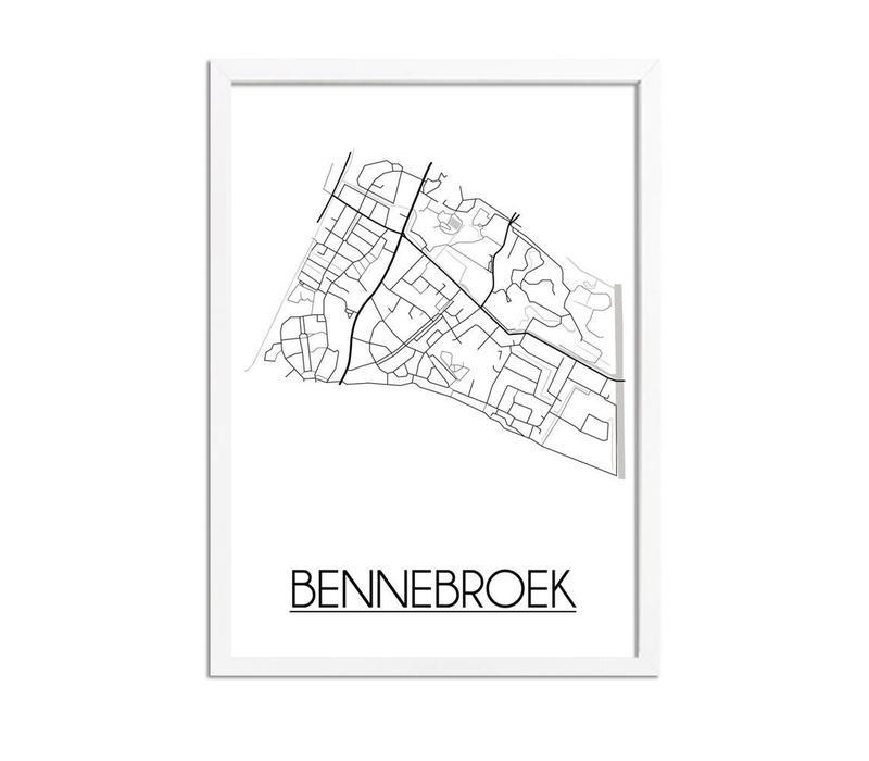 Bennebroek Plattegrond poster