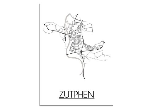 DesignClaud Zutphen Plattegrond poster