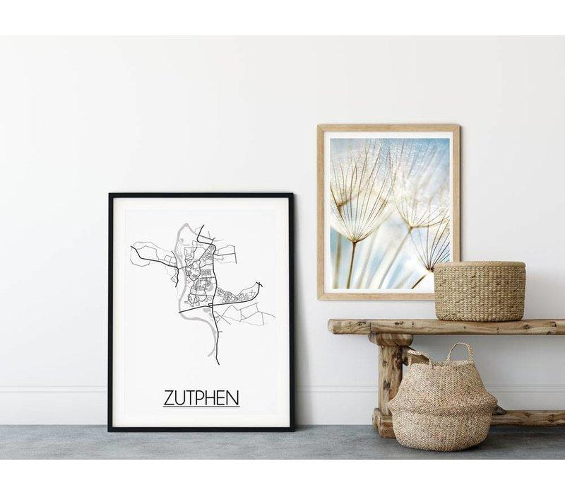 Zutphen Plattegrond poster