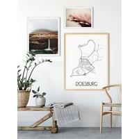 Doesburg Plattegrond poster