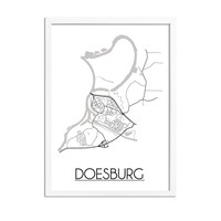Doesburg Plattegrond poster