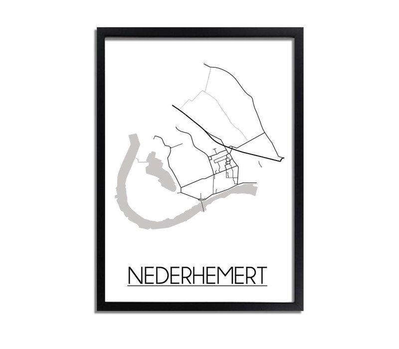 Nederhemert Plattegrond poster