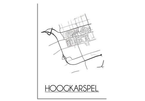 DesignClaud Hoogkarspel Plattegrond poster