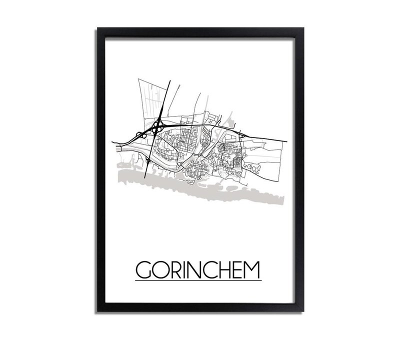 Gorinchem Plattegrond poster